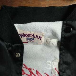 Vintage 80s Black Satin Jacket Camaro sz M