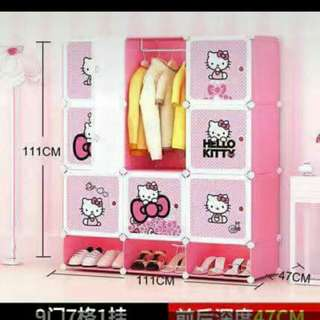 hello kitty cubes with shoe.rack organizer