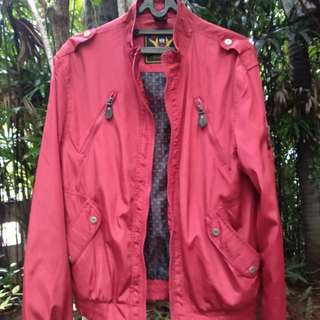 Red Bomber Jacket Zara Young Collection sz M