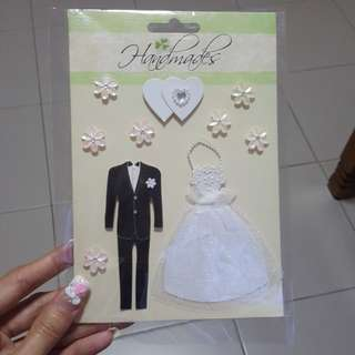 Wedding deco sticker