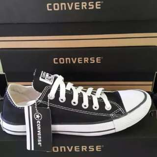 Sepatu Converse  Low Kick  Black n White with Box  Made in Indonesia