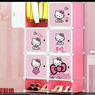6 cubes.hello.kitty with shoe rack