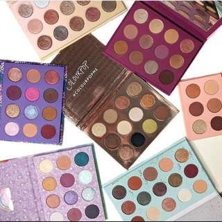 IN STOCK $29 Colourpop Palettes - Yes please, She, golden state of mind, semi precious, element of surprise, you had me at hello, my little pony, i think i love you, all i see is magic, double entendre, dream st, give it to me straight