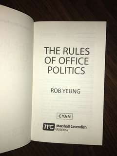 Hardcover - The Rules of Office Politics