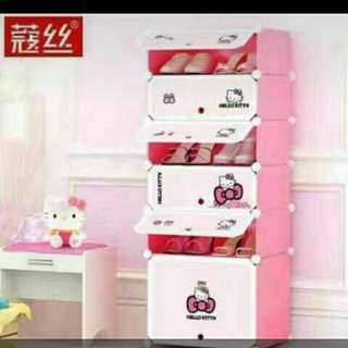 5 layer and 1 cube.hello kitty organizer
