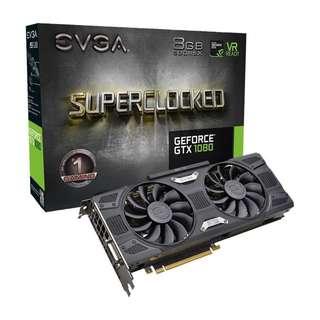 GTX 1080 8GB SC EVGA GeForce (ALMOST BRAND NEW - 1 Week Old)