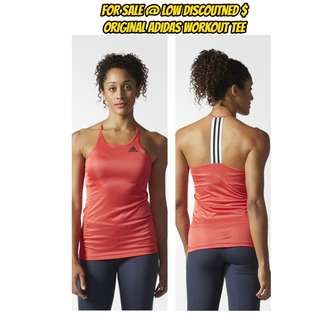 BNWT Adidas Climalite Training Tank Top Sleeveless Vest Gym Tee Back Design (SIZES AVAILABLE)