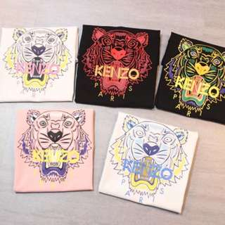 Kenzo tee with 5 colors pattern