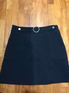 High waisted Black Ring Skirt