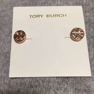 Tory Burch Earrings Rose Gold 玫瑰金圓形耳環