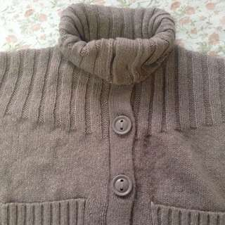 Taupe Button Knit Sweater