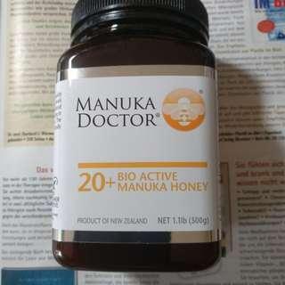 【現貨】【500g】紐西蘭 MANUKA DOCTOR 【20+BIO ACTIVE】麥蘆卡蜂蜜