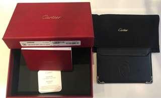 全新法國製卡地卡 CARTIER 真皮信用卡及名片套