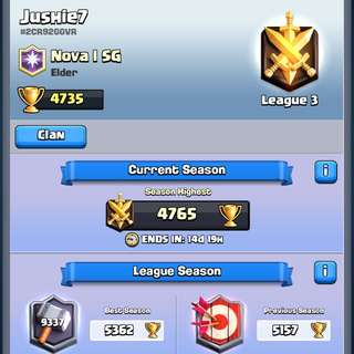 Clash royale League 5 Acc