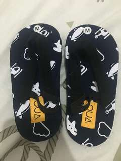 Sandal insole 13 cm navy motif airplane