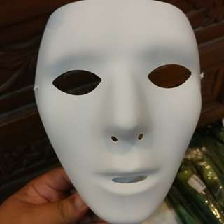 Hip hop dance mask female.