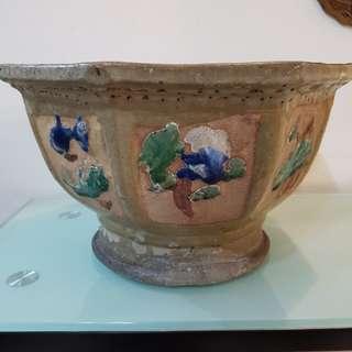Antique Sek Wan flower pot
