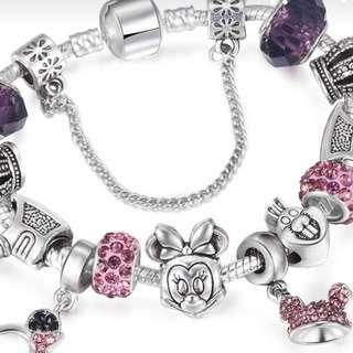 P2mart.com ✌✔PRE  Order Mickey and Minnie  bracelet
