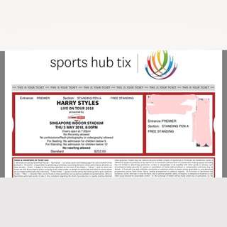 HARRY STYLES TICKET CONCERT SINGAPORE