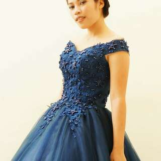 6-layered Royal Blue Gown