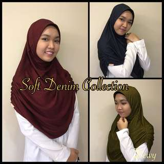 Soft Denim Hijab