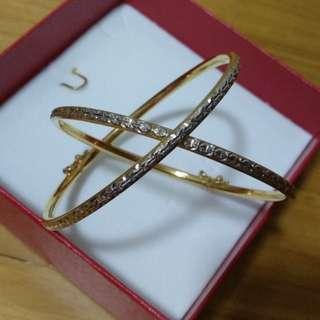 Preloved Poh Heng 916 22K pair Bangle