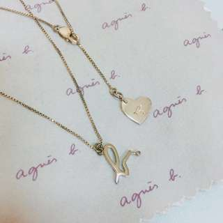 agnes b 925 silver necklace
