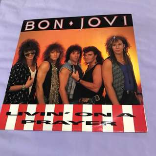 "Bon Jovi - Livin' On A Prayer -12"" Single"