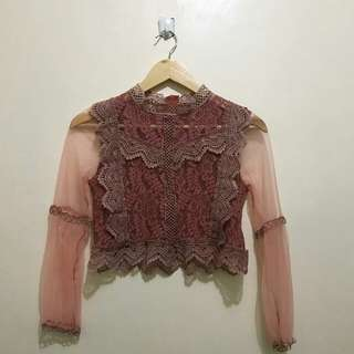 Old rose Lace top