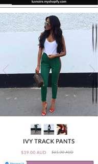 Ivy Lux Noir Track Pants