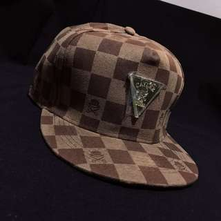 格子棒球帽