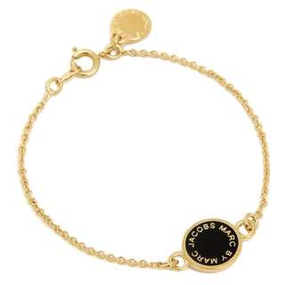 💚現貨💚MARC BY MARC JACOBS ENAMEL DISC Bangle BLACK/ORO black / gold 黑金 手鏈