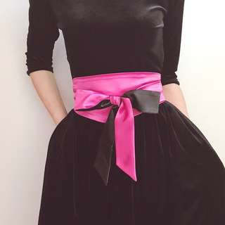 Satin Hot Pink Belt Sash
