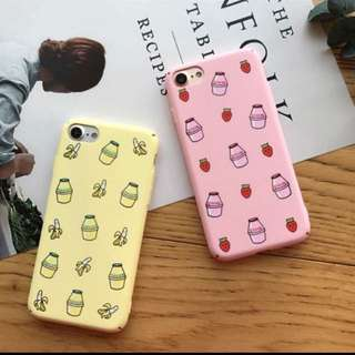 Korean milk phone cover