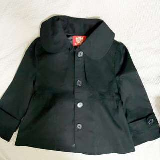 Knights Bridge品牌英倫學院風黑色短外套 二手 專櫃 正品 S號