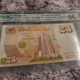 $25 Commemorative notes ( 1996 )