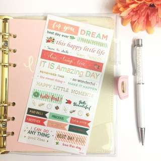 [Ready Stock]Planner Stickers (Quotes & Words)