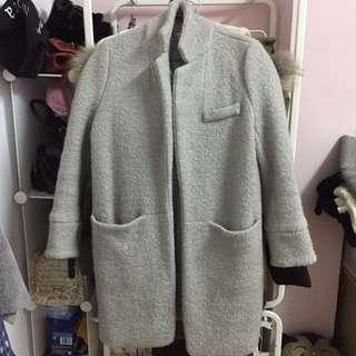 🚚 韓代購購入♥️灰毛呢外套