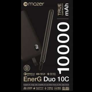 Mazer EnerG Duos 10C 10000mAh Power Bank with Additional QC 3.0