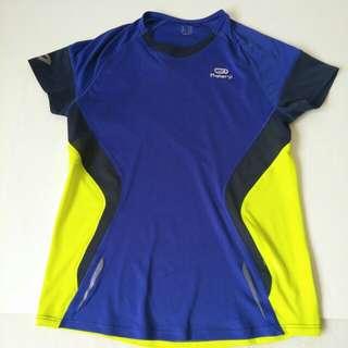 迪卡儂兒童運動衣男童排汗衣涼感衣 透氣衣安全夜間反光條