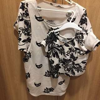 Mother and daughter nursing blouse top