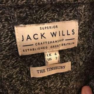 Jack wills Grey Knitwear Merino Wool UK6