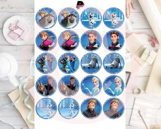 Frozen Cupcake Topper Printable