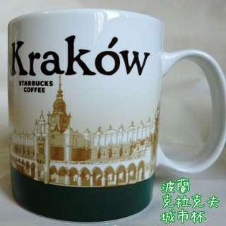 🚚 《預購》星巴克城市杯-法國.波蘭.巴黎.華沙.克拉克夫城市杯.浮雕杯