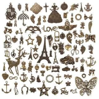(Preorder) 90pcs Antique Bronze Alloy Charm