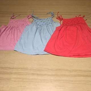 Bundle set of 3 matching Girls tops blouses