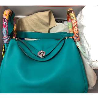 Hermes Lindy 26 Swift blue paon