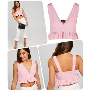 BNWT Dotti Crop Top Pink Sizes Available!