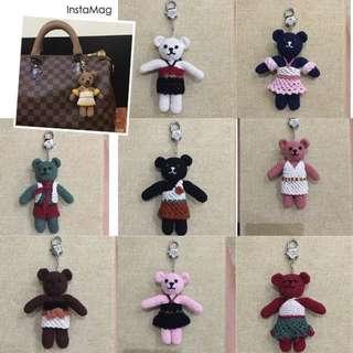 Adorable Teddy Bear Handmade Bag Charm
