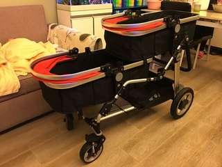 雙胞胎嬰兒推車